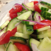 Quick and Easy Cucumber & Tomato Salad with Mint-Yogurt Dressing