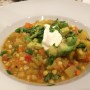 Sweet Potato-Corn Chowder with Avocado