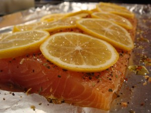 salmon with meyer lemon