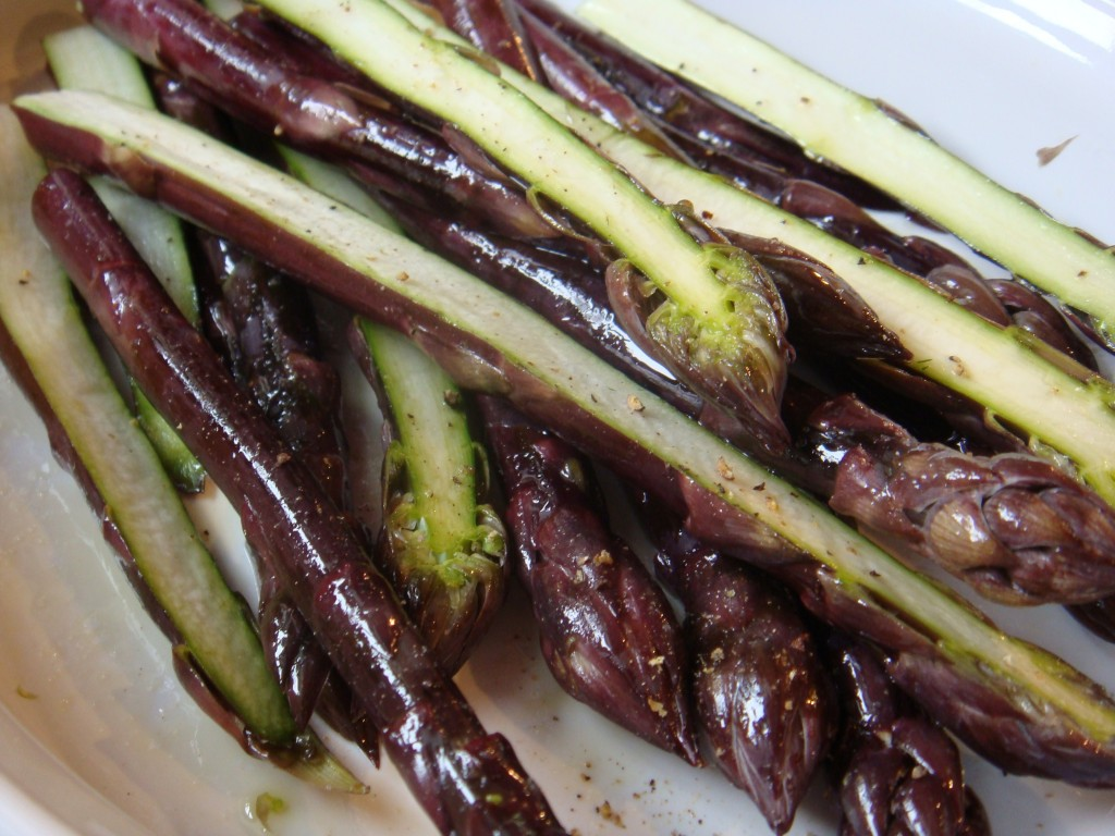086 1024x768 Grilled Purple Asparagus with Dill Sauce