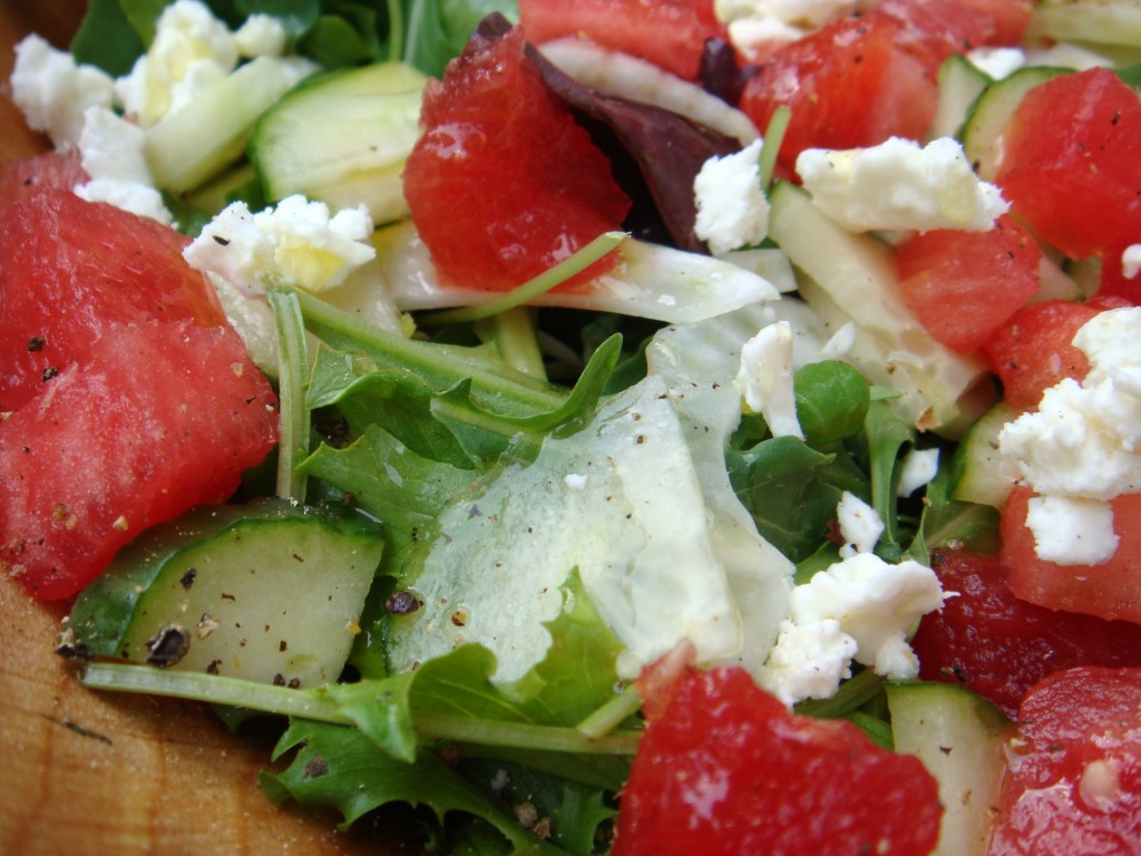 ... salad w feta olives recipe yummly watermelon cucumber and feta salad