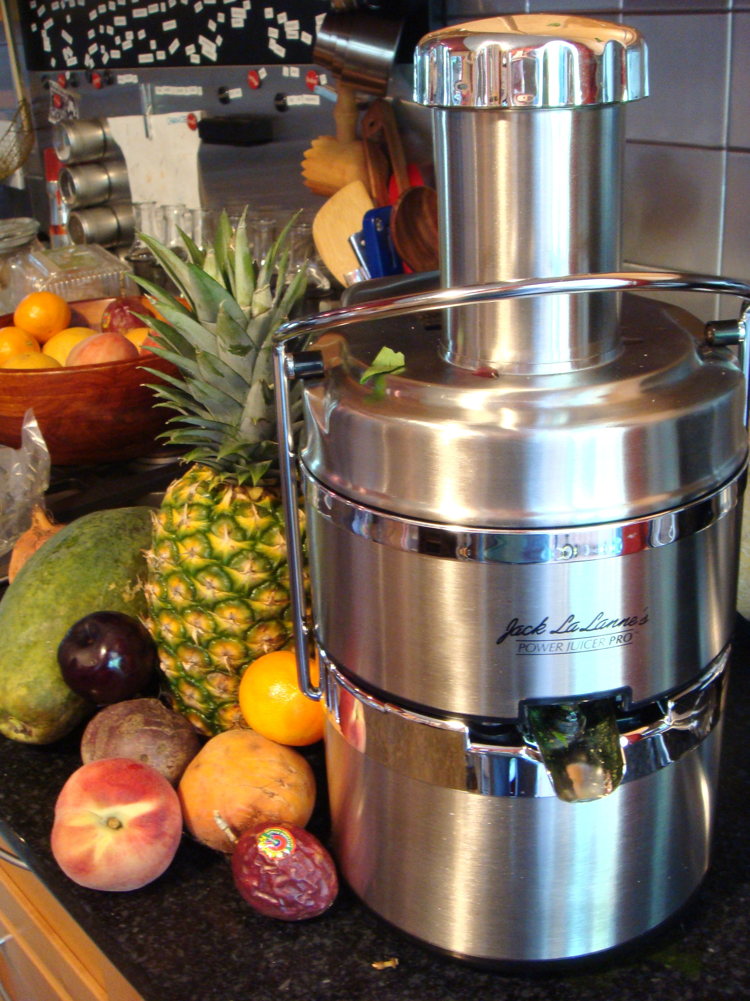 My new ish jack la lanne power juicer pro boston food for Alpine cuisine power juicer