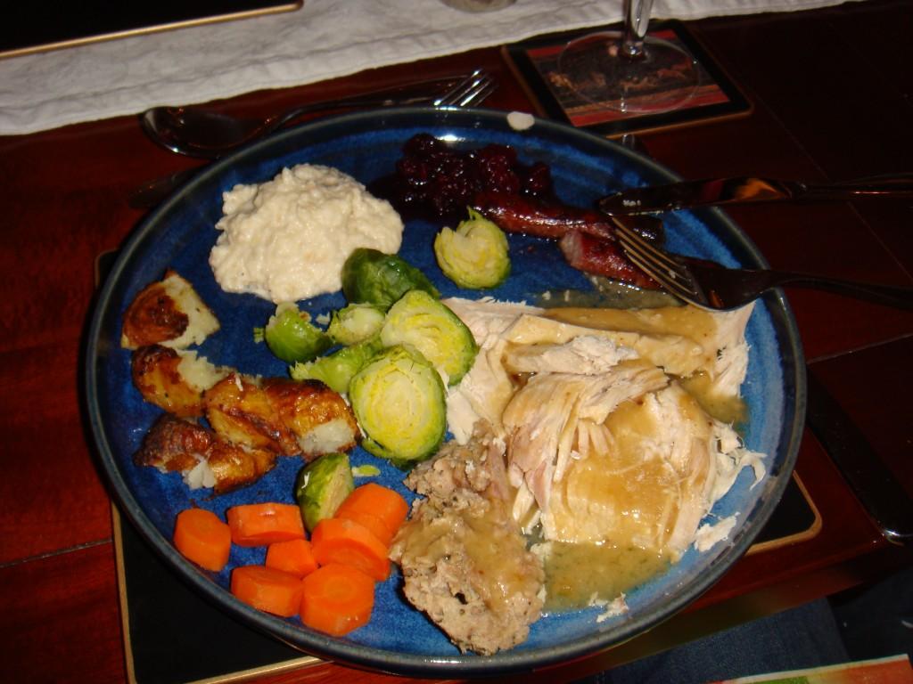 England Christmas Dinner.A Traditional Christmas Dinner British Style Boston Food